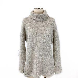 Splendid- Light Neutral Boucle Turtleneck Sweater